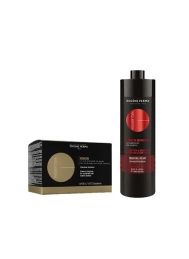 Eugene Perma Eugene Perma Essentiel Keratin Nutrition Nem Şampuan 1000 Ml+Saç Bakımı 10 X10 Ml Renksiz